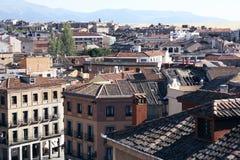 Крыши Сеговии стоковое фото rf
