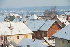 Крыши снега Стоковые Изображения