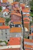 Крыши старого города Порту, Португалии Стоковые Изображения RF