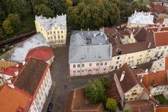 Крыши старого городка Таллина Стоковая Фотография
