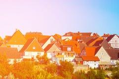 Крыши частных домов Стоковое фото RF