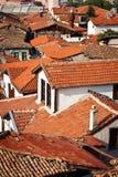 крыши ankara старые стоковая фотография