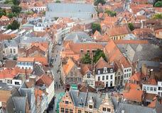 Крыши Brugge Стоковая Фотография RF
