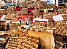Крыши Jijona (Xixona) Испания Стоковые Фото