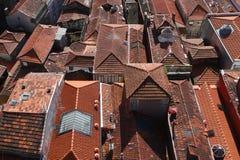 крыши porto Португалии Стоковая Фотография RF