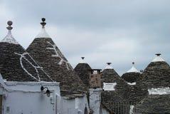 Крыши Trulli в Alberobello Стоковое Изображение