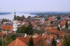 Крыши Zemun belgrade Сербия Стоковое фото RF