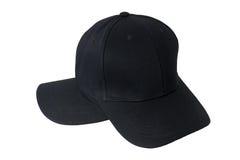 Крышка бейсбола черная Стоковое Изображение RF