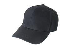 Крышка бейсбола черная Стоковая Фотография
