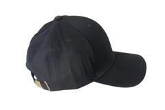 Крышка бейсбола черная Стоковое фото RF