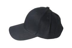 Крышка бейсбола черная Стоковые Фотографии RF