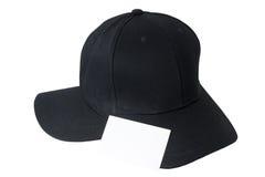 Крышка бейсбола черные и визитная карточка Стоковые Изображения RF