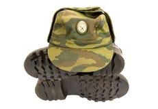 крышка ботинок армии черная Стоковое Изображение