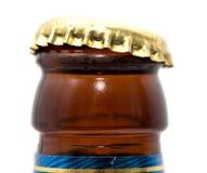 Крышка бутылки с пивом Макрос Стоковое Изображение RF