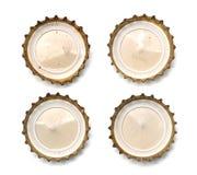 Крышка бутылки с пивом Макрос Стоковые Изображения RF
