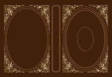 Крышка вектора классическая для книги Декоративные винтажные крышка или рамка для книг и ученических книг Оно нарисовано стандарт иллюстрация вектора