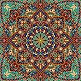 Крышка вектора с красочными орнаментами Стоковая Фотография RF