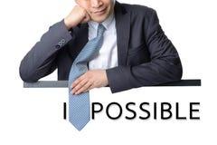 Крышка галстука пользы бизнесмена Стоковые Фотографии RF