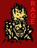 Крышка головы зомби ража также вектор иллюстрации притяжки corel Стоковая Фотография