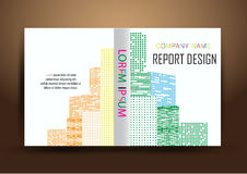 Крышка годового отчета, предпосылка дизайна отчете о крышки красочная Стоковые Фотографии RF