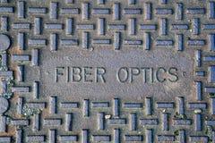 Крышка доступа металла волоконной оптики Стоковое Изображение RF
