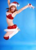 крышка женские модельные santas Стоковые Изображения RF