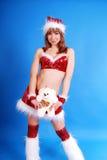 крышка женские модельные santas Стоковое Фото