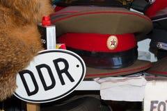 Крышка и знак ГДР Стоковое Фото