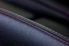 Крышка кожи места автомобиля крупного плана Стоковые Фото