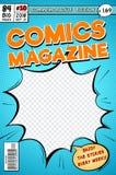 Крышка комика Ретро журнал комиксов мультфильма Шаблон вектора в стиле искусства попа бесплатная иллюстрация