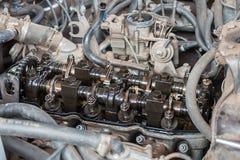 Крышка клапана старого двигателя открытая Стоковая Фотография RF