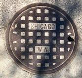 Крышка люка #3 Чикаго стоковые фото