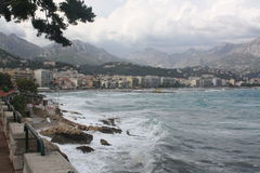 Крышка Мартин, Menton, Cote d'Azure, Франция Стоковое Изображение RF