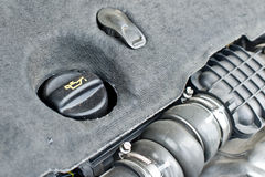 Крышка масла двигателя автомобиля Стоковая Фотография RF