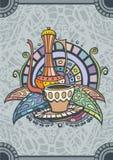 Крышка меню кофе Стоковая Фотография RF