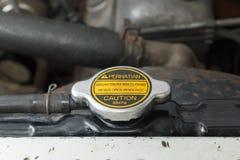 Крышка радиатора: Никогда не раскрывайте когда горячий Стоковая Фотография RF