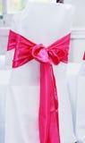 Крышка стула на свадьбе Стоковые Фотографии RF