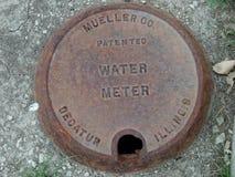 Крышка счетчика воды Стоковые Фотографии RF