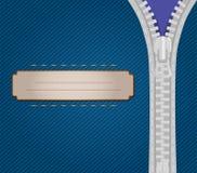 Крышка с обрамленной застежка-молнией иллюстрация штока
