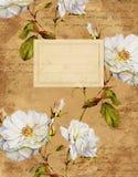 Крышка тетради винтажных роз флористическая Стоковые Фотографии RF