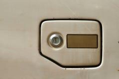 Крышка штуцера для заправки топливом старого автомобиля Стоковые Изображения