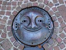 Крышка люка в музее Ghibli, токио - Японии стоковые фотографии rf