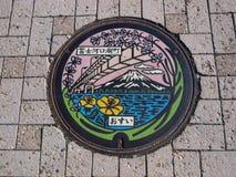 Крышка люка в озере Kawaguchiko, Японии стоковая фотография rf