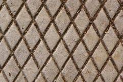 Крышка люка с ромбовидным узором Стоковое Изображение