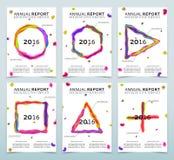 Крышки белых годовых отчетов иллюстрация вектора