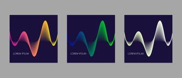 Крышки вектора с абстрактным динамическим дизайном Стоковое Изображение