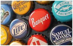 Крышки пивной бутылки Стоковая Фотография RF