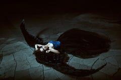 крыла ангела черные Стоковые Изображения