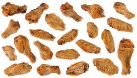 крыла зажаренные цыпленком Стоковое Фото