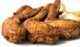 крыла зажаренные цыпленком Стоковое фото RF